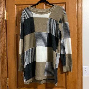 Color-Blocking Sweater Dress